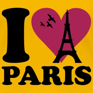 Light pink I love Paris - France Women's T-Shirts - Women's Premium T-Shirt