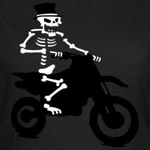 Skeleton with cylinder engine driving cross Bik T-Shirts - Women's T-Shirt