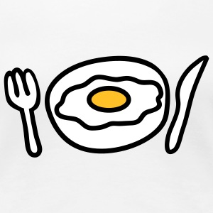 fried_egg_dish_3c T-shirts - Premium-T-shirt dam