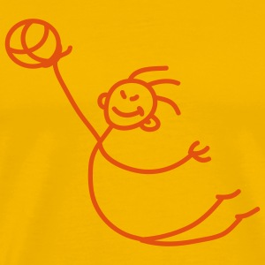 basketball_person_1c T-shirts - Herre premium T-shirt