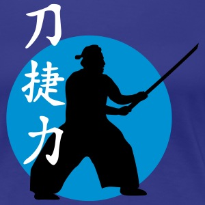 samurai_strength_victory_sword_3c T-Shirts - Frauen Premium T-Shirt