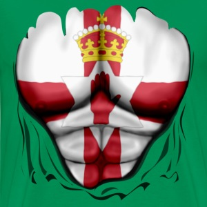 Northern Ireland Flag Ripped Muscles, six pack, ch - Men's Premium T-Shirt