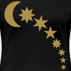 Black moon and stars T-Shirts - Women's Premium T-Shirt