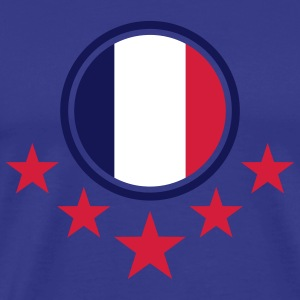 france_flag_3c T-shirts - Mannen Premium T-shirt