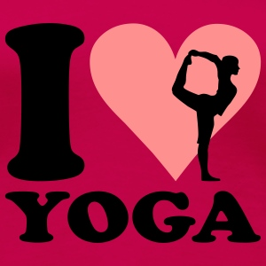 I love Yoga - Joga T-Shirts - Frauen Premium T-Shirt