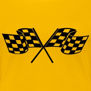 racing flags sport T-shirts - Vrouwen Premium T-shirt