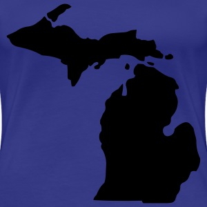 State of Michigan T-Shirts - Women's Premium T-Shirt