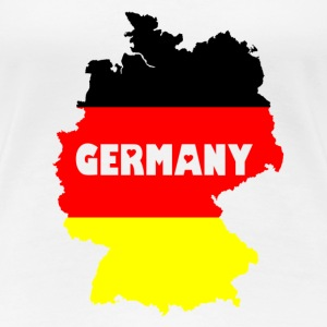 Germany transparente Schrift T-Shirts - Frauen Premium T-Shirt