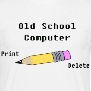 Old school computer - T-shirt Homme