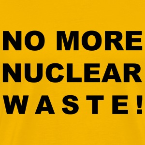 T-Shirt Mann NO MORE NUCLEAR WASTE © by kally ART®  - Männer Premium T-Shirt