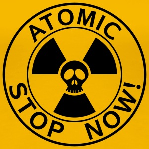 Girlieshirt Stop now atomic 05© by kally ART®  - Frauen Premium T-Shirt