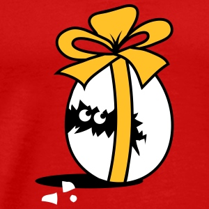 Chick in Easter Egg with Ribbon  T-Shirts - Men's Premium T-Shirt