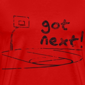 Basketball Freiplatz Got Next! (used look) T-Shirt - Männer Premium T-Shirt