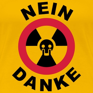 Girlieshirt Atomstrom steckdose big NEIN DANKE © by kally ART® - Frauen Premium T-Shirt