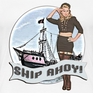 White Ship Ahoy! T-Shirts - Women's Premium T-Shirt