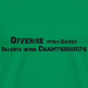 Offense vs. Defense (used look) T-Shirts - Männer Premium T-Shirt