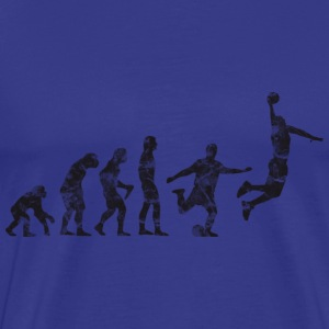 Basketball Evolution Dunk (used look) T-Shirts - Männer Premium T-Shirt