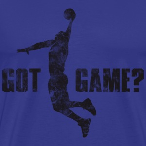 Basketball Got Game? Dunk (used look) T-Shirts - Männer Premium T-Shirt