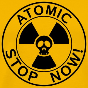 T-Shirt Mann Stop now atomic 05© by kally ART®  - Männer Premium T-Shirt