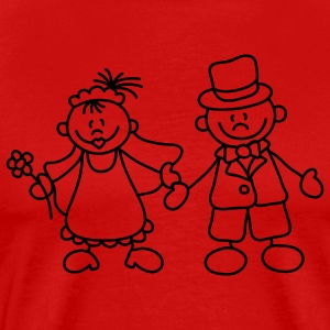 Sweet little bride and groom T-Shirts - Men's Premium T-Shirt