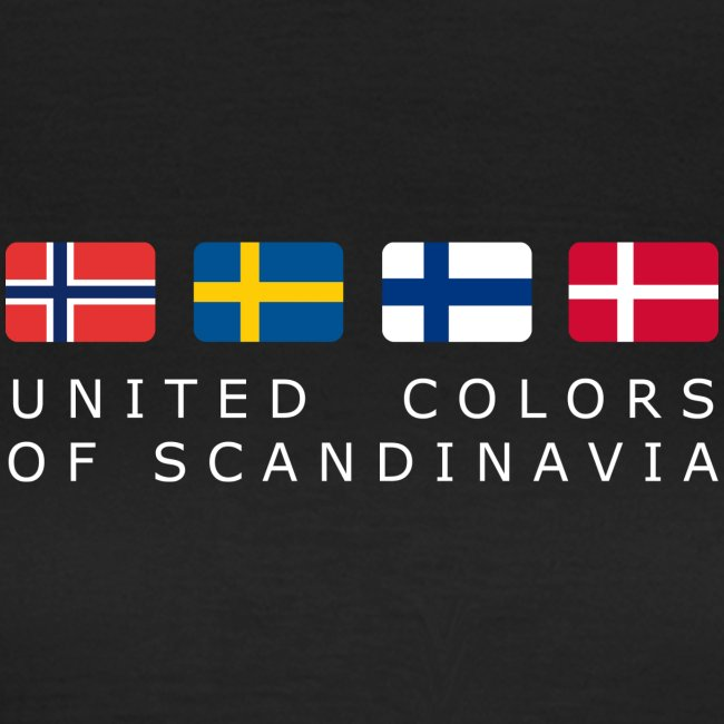 Women's T-Shirt UNITED COLORS OF SCANDINAVIA white-lettered