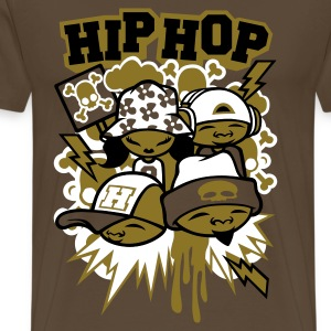 Hip hop Faces gold - T-shirt Premium Homme