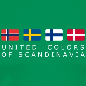 Classic T-Shirt UNITED COLORS OF SCANDINAVIA white-lettered  - Männer Premium T-Shirt