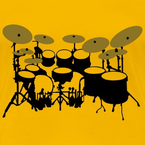 Large drum kit - Women's Premium T-Shirt