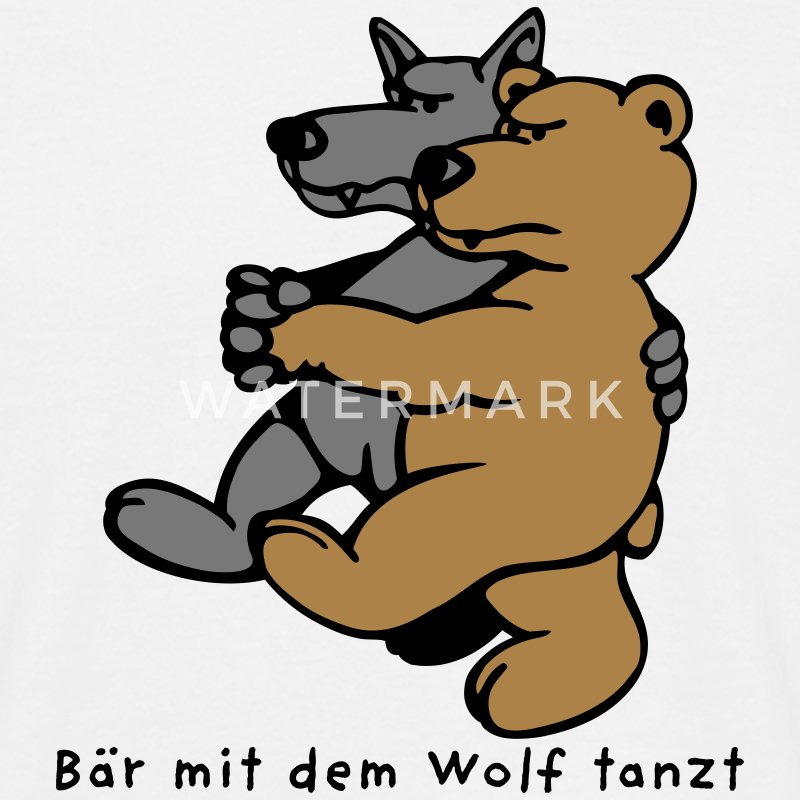 b r mit dem wolf tanzt t shirt spreadshirt. Black Bedroom Furniture Sets. Home Design Ideas