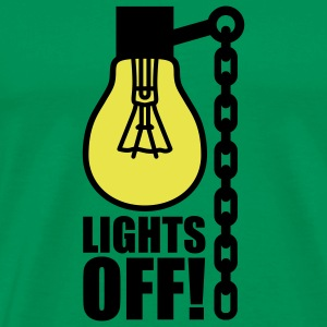 Lights off | Light bulb T-Shirts - T-shirt Premium Homme