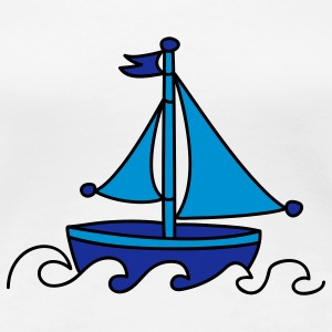 Blue Sailboat T-Shirts - Women's Premium T-Shirt