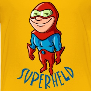 vl074h_superheld_4c_text Kinder T-Shirts - Teenager Premium T-Shirt