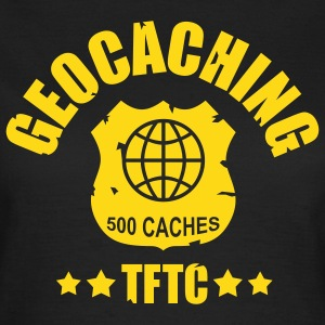 geocaching award 500, 1 color - front - Camiseta mujer