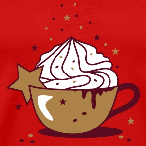 Cappuccino with cream and star cookies T-Shirts - Men's Premium T-Shirt