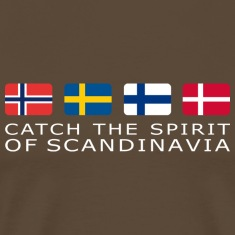 Classic T-Shirt SPIRIT OF SCANDINAVIA white-lettered