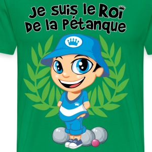 Pétanque kid text - Männer Premium T-Shirt