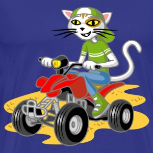 Cat and quad - Mannen Premium T-shirt