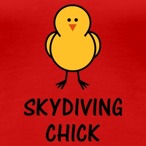 Skydiving Chick - Women's Premium T-Shirt