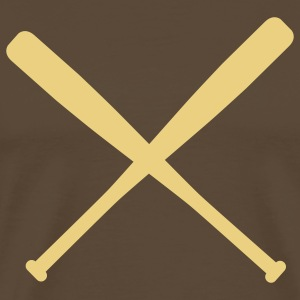 baseball bat crossed T-Shirts - Men's Premium T-Shirt