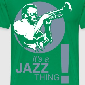 It's a jazz thing ! silver/white - Mannen Premium T-shirt