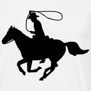 Cowboy on a Horse T-Shirts - Men's T-Shirt