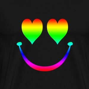 Rainbow Smiley 5 T-Shirts - Men's Premium T-Shirt