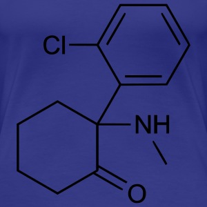 Ketamine (Anesthetic) Molecule T-Shirts - Women's Premium T-Shirt