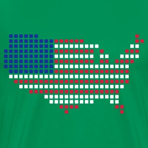 Kelly green USA T-Shirts - Männer Premium T-Shirt