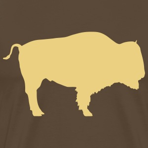 bison bull animal T-shirts - Mannen Premium T-shirt