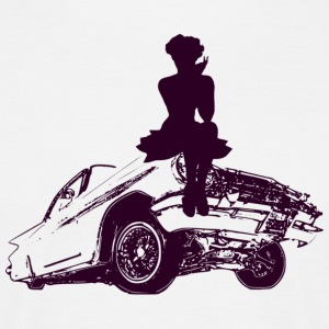 hot muscle car girl  - Männer T-Shirt