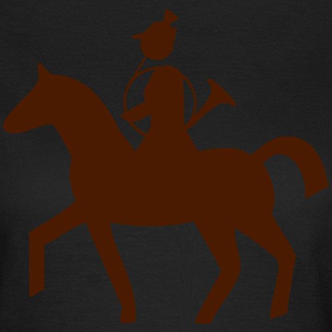 """Jägerinnen Shirt """"Bläserin Parforce zu Pferd"""""""