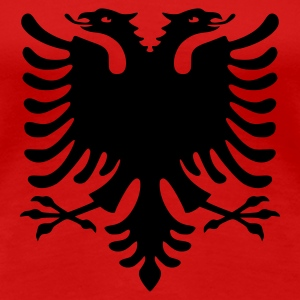 Double headed eagle, eagle, Albania, Kosovo, coat of arms, flags, LARP, roleplay, symbols, Albanian Eagle, www.eushirt.com - Women's Premium T-Shirt