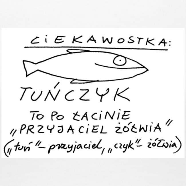 Koszulka dziewczęca z tuńczykiem
