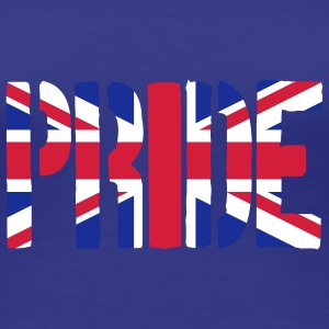 PRIDE Britain Flag, British Flag, Union Jack, UK F - Women's Premium T-Shirt